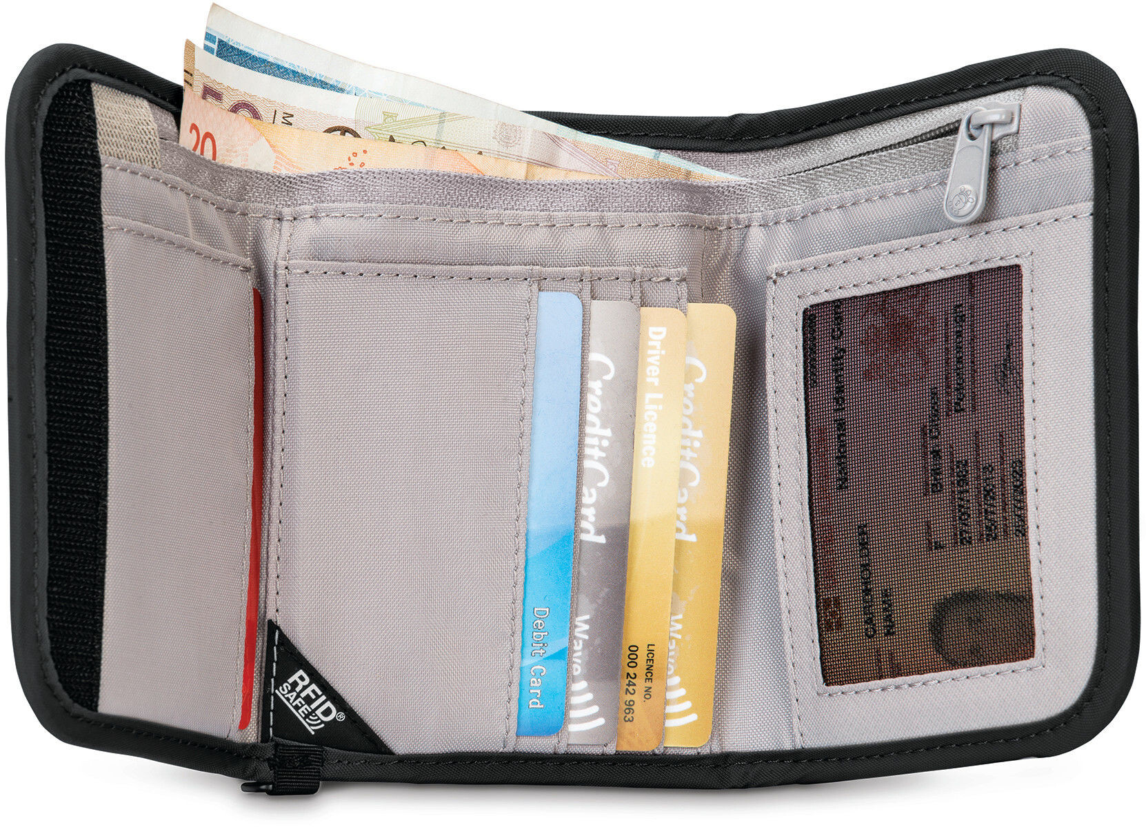 cad1941d08824 Pacsafe RFIDsafe V125 Portfel czarny | Sklep Addnature.pl